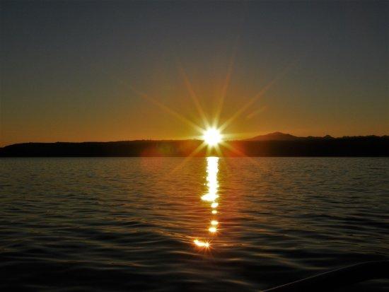 Union, WA: Sunset while on the harbor cruise