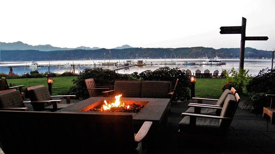 Union, WA: Firepit and view of Hood Canal