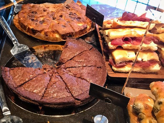The new Princi Bakery offering pastries, sandwiches, breads, and focaccia pizza, Starbucks Reser
