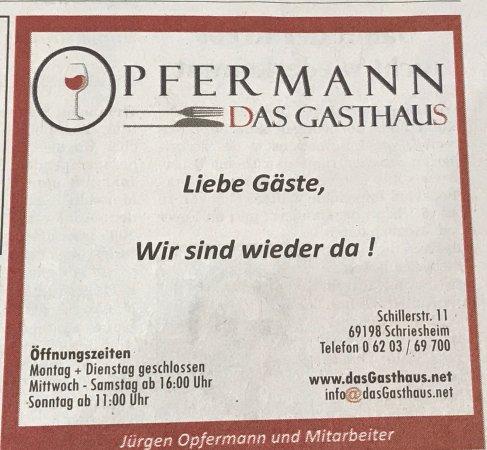Schriesheim, Germany: Werbung in der Presse