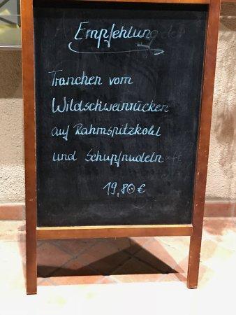 Schriesheim, Germany: Empfehlung zum Essen