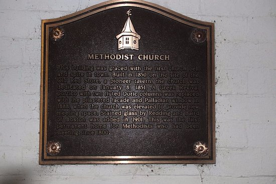 Littleton, Nueva Hampshire: A plaque about this church