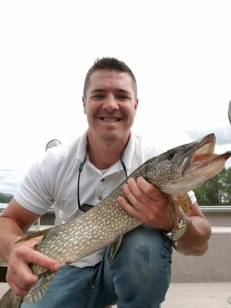 Saranac Lake, NY: Fishing for pike is one of our favorite hobbies!