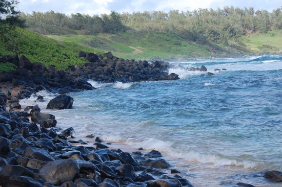 Anahola, Hawái: Only a few rocks