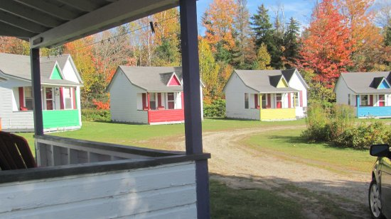 Randolph, NH: cabins, view from cabin porch