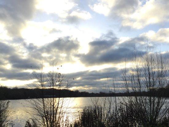 Rickmansworth, UK: View across the aquadrome lake