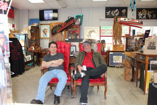 Campbell River, Καναδάς: Nuuchahnulth Actor Duane Howard's visit to the gallery April 2017