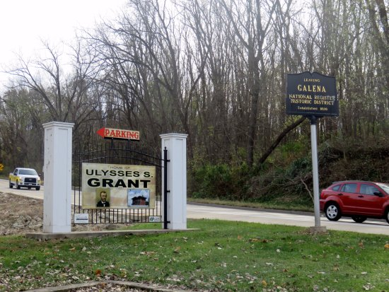 welcome sign to the Grant Home and Galena