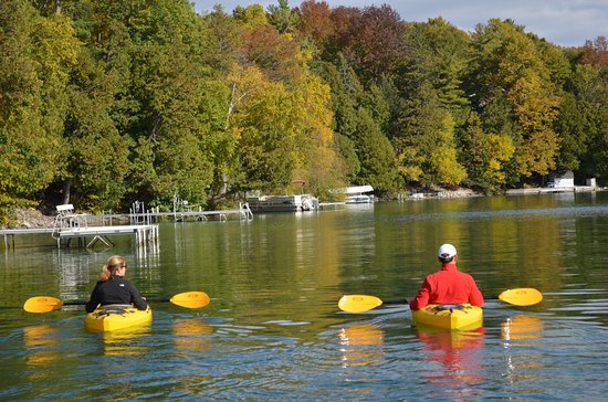 Kayaking on Elkhart Lake
