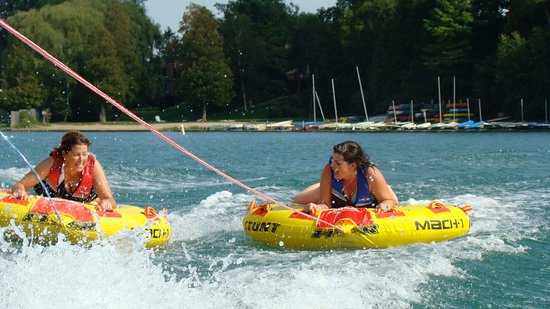 Tubing on Elkhart Lake