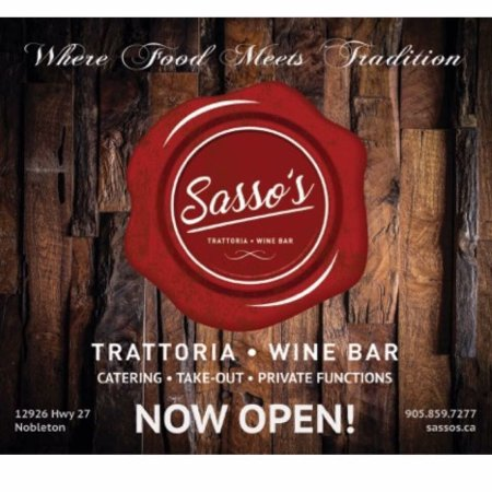 Nobleton, Kanada: Sasso's Trattoria & Wine Bar