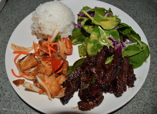 Lawai, Havai: pork belly and kalbi