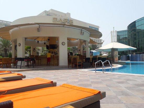 Millennium airport hotel dubai united arab emirates reviews photos price comparison for Dubai airport swimming pool price