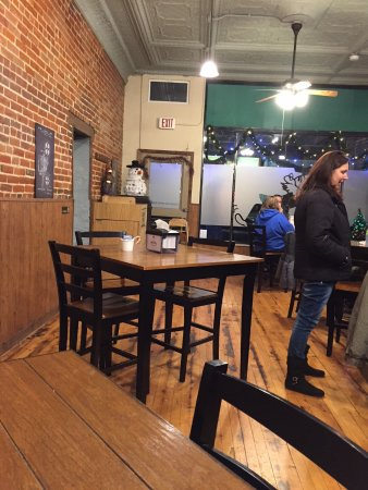 Oregon, IL: A look to the west while sitting in the dining area.