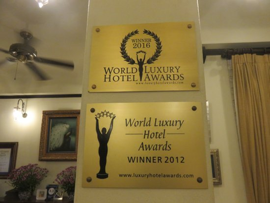 Puripunn Baby Grand Boutique Hotel: Their awards