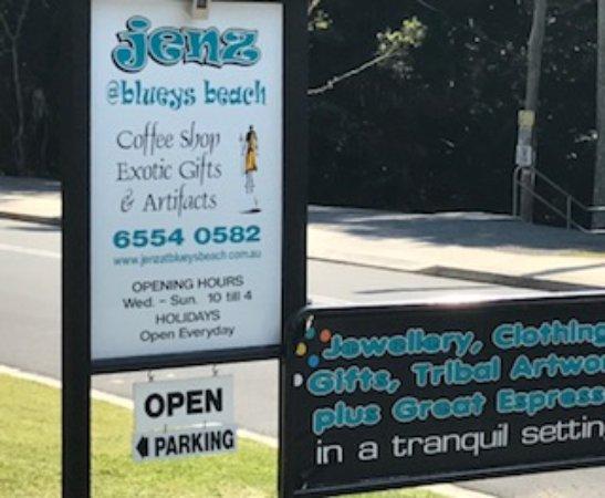 Blueys Beach, Australia: ADVERTISING SIGN