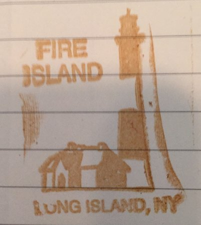 Fire Island, Nova York: Passport stamp available at connecting desk