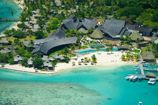 InterContinental Moorea Resort & Spa: Aerial view of the Resort