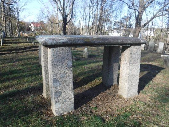 Essex, MA: Unusual raised tombstone.