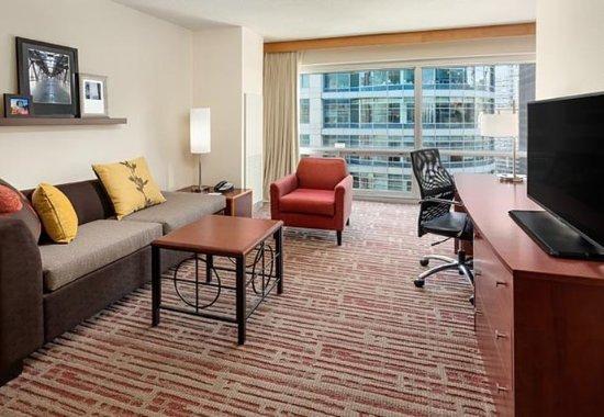 Two Bedroom Suite Living Area Obr Zek Za Zen Residence Inn Chicago Downtown River North