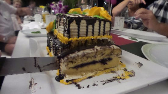 Bellini: Surprise Cake - Tastes as good as it looks!