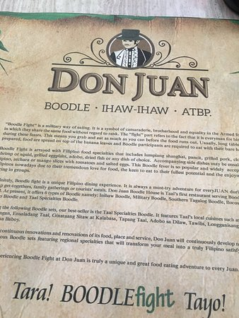 Taal, Filipiny: Don Juan