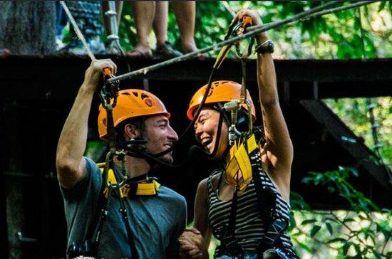 5-hour Angkor Wat Park Zip Line Adventure from Siem Reap
