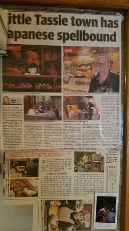 Ross, Australia: Article about the bakery