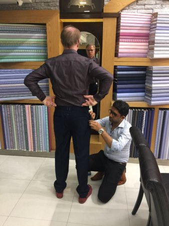 Exclusive Tailor: Mr. Max Herbin from France visited us after reading a great review on google..2 merino wool suit