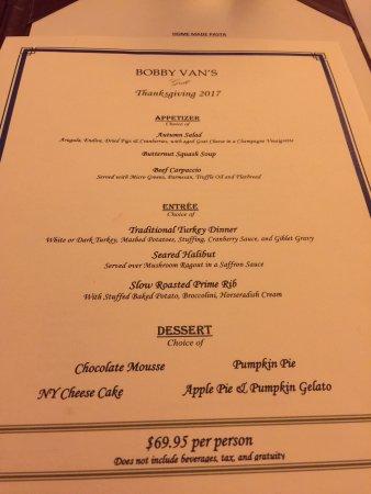 bobby vans nyc menu