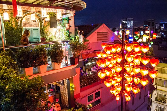 The View Rooftop Bar - Picture of Duc Vuong Hotel, Ho Chi Minh City
