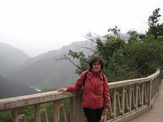 Yuzhong County, China: beautiful view on the top of Xinglong Mountain