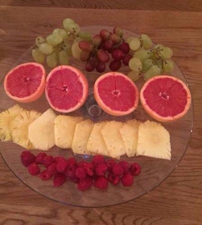 Rondebosch, Zuid-Afrika: Breakfast fruit platter