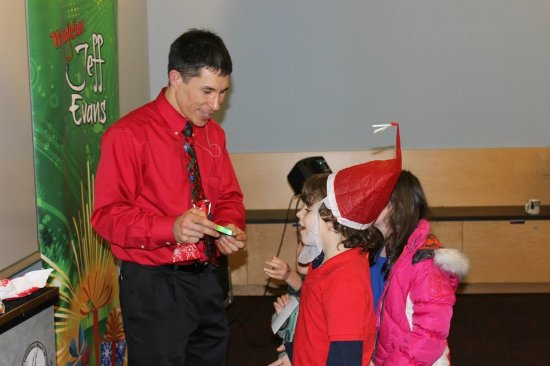 Shoreline, WA: Jeff Evans with future magician Devin Graupmann