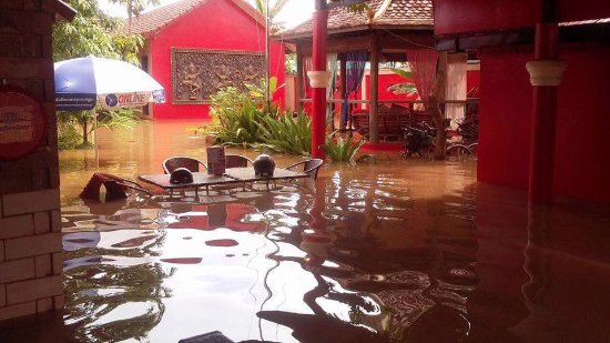Sun Sothy Guesthouse: Flooded out 3/10/17, where is the pool??