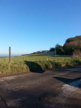 Westbury White Horse: This path leads from Westbury to the white horse.