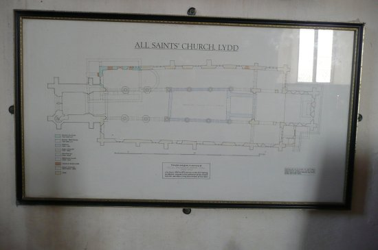 Lydd, UK: a plan of the church