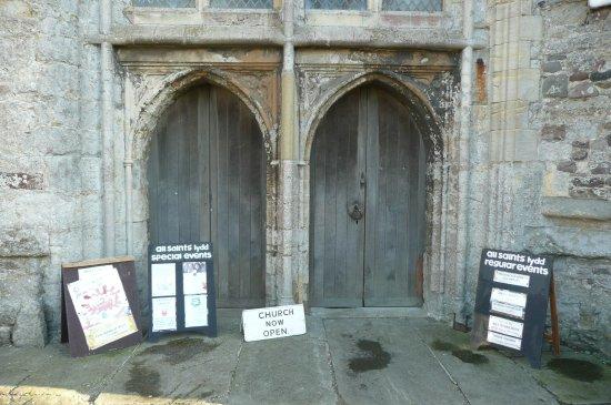 Lydd, UK: the entrance