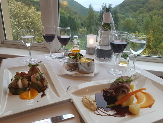 Glen Of The Downs, Ireland: Main meals with a view.