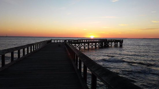 Pasadena, MD: Sunrise at the Fishing Pier on the Chesapeake Bay.