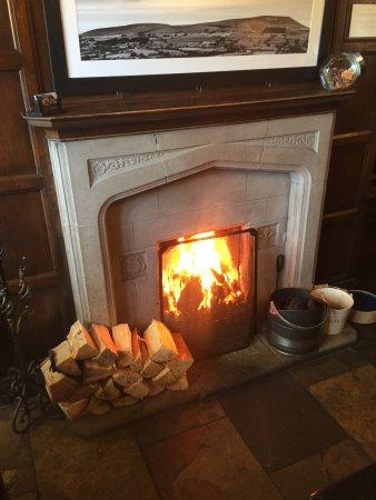 Barley, UK: Our Roaring open Log Fire