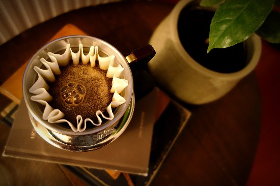 Ranka, Letonia: Freshly brewed coffee from Ethiopia