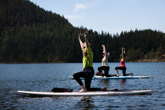 PADDLE BOARD YOGA ON ORCAS