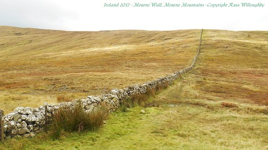 County Down, UK: Small section of the Mourne Wall.