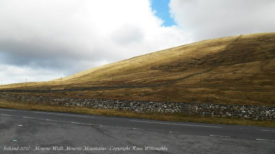 County Down, UK: The Mourne Wall, going up and over!