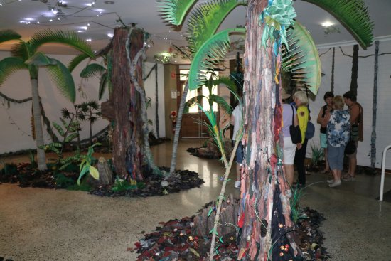 Port Macquarie, Australia: The recreated forest with recycled materials