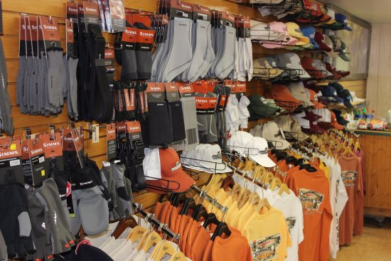Fort Smith, MT: Full selection of clothing and accessories available in our fly shop..