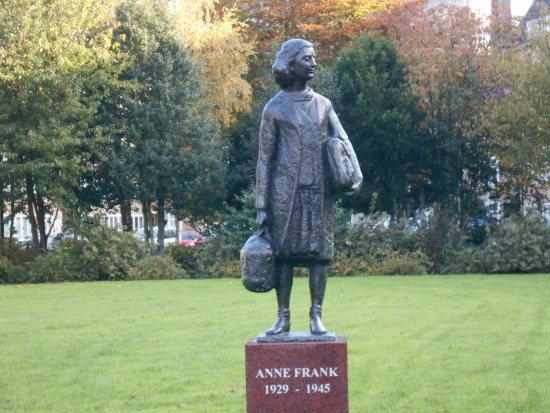 Amsterdam, The Netherlands: Anne Frank statue, Merwedeplein