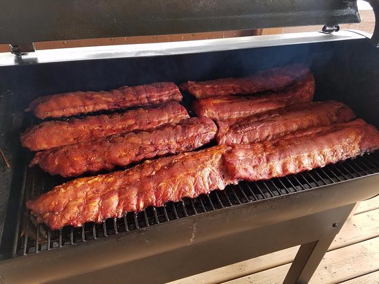 Fort Smith, MT: Six hour Traeger Smoked Ribs on the menu for this evening!