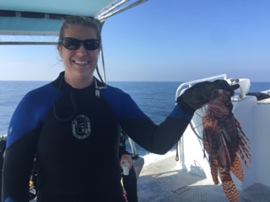 ScubaTech: Lion fish I caught with Tim.